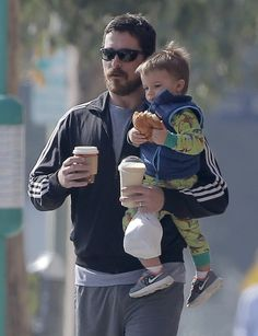 Christian Bale & His Breakfast Buddy, read more at http://my-healthy-pregnancy.info/