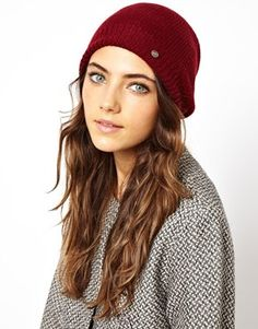 6a5f65434ca Also huge this season  beanies! This burgundy Esprit Knit Beanie looks  extra-cozy