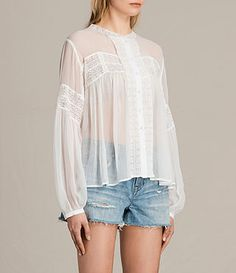 Mujer Pinto Shirt (Chalk White) - product_image_alt_text_2