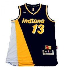 Mens Indiana Pacers Paul George Number 13 Jersey Black and Yellow http   www 4b9e0fa4c