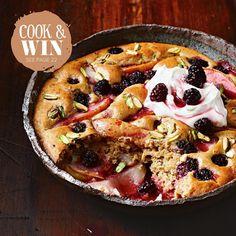 Easy, low cal & #glutenfree, Pear & Blackberry Cobbler #tastecooktheissue
