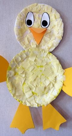 Tissue Paper Chicken Preschool Craft For Kids /mollymoo; Easter or farm themed art