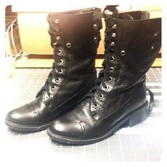 Sam Edelman leather combat boots Sam Edelman DARWIN leather combat boots.  Worn a few times and in excellent condition with box. Soft leather about 1.5 inch heel. Really comfy Sam Edelman Shoes Combat & Moto Boots