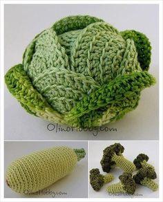 Amigurumi Sebze Modelleri - Hobbies and crafts - Crochet Fruit, Crochet Food, Cute Crochet, Crochet Dolls, Crochet Flowers, Crochet Baby, Knit Crochet, Crochet Amigurumi, Crochet Stitches