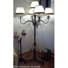 Wrought Iron Floor Lamp. Customize Realizations. 482