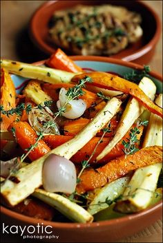 Rustic Roasted Vegetables (replace potatoes with zucchini!)