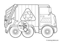 Garbage Truck Coloring Sheets Elegant Trucks Coloring Pages Gallery Family Coloring Pages, Coloring Pages To Print, Colouring Pages, Coloring Pages For Kids, Coloring Sheets, Coloring Books, Earth Day Activities, Preschool Activities, Monster Truck Coloring Pages