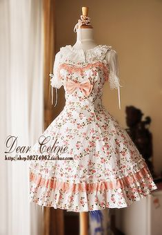 Dear Celine Summer Floral Pink Rosy JSK, also known as Lilac Fawn's dream dress. Which is strange, 'cause it's kind of normal, but. I. Love. It.