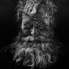 awesome portrait / Untitled photo by Lee Jeffries Old Faces, Many Faces, We Are The World, People Around The World, Lee Jeffries, Black And White Portraits, Black And White Photography, Old Man Portrait, Foto Art