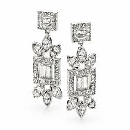 Amelie Swarovski Bridal & Event Earrings - Fletcher & Grace bridal jewellery, Swarovski crystal jewellery