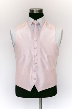 Pink Silk Waistcoat with Pink Tie Wedding Waistcoats, Pink Ties, Vest, Silk, Jackets, Collection, Dresses, Fashion, Down Jackets