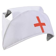 Nurse Hat  Nurse Caps With Red Cross Costume Accessory by Funny Party Hats >>> ** AMAZON BEST BUY -affiliate link**