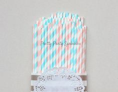 Light Blue and Light Pink Striped by PrettyPartySprinkles on Etsy