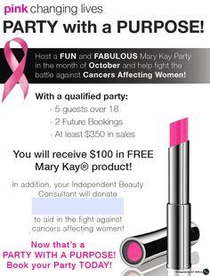 Mary Kay® Hostess Program Breast Cancer Flyer http://www.blog.qtoffice.com/mary-kay-hostess-program/