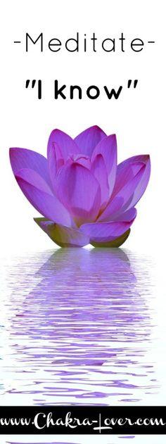 Crown chakra meditation  www.chakra-lover.com