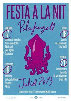 Festa a la Nit 2013. Barraques a Palafrugell, del 17 al 20 de juliol de 2013.
