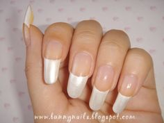 Pearl White French Manicure | Nail Art Ideas