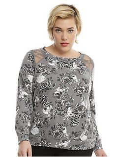 Disney Princesses Floral Girls Sweater Plus Size | Hot Topic