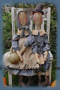 Primitive Pilgrims Doll PATTERN The Brewsters EPATTERN