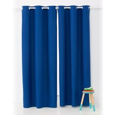 Block Out Eyelet Curtains - 1 Pair, Navy | Kmart