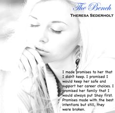 The bench by Theresa Sederholt Career Choices, I Promise, Good Books, Bench, Good Things, In This Moment, Reading, Reading Books, Great Books