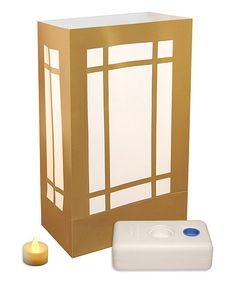 Another great find on #zulily! Gold & White Luminaria - Set of 12 #zulilyfinds