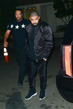 Drake wearing  Acne Selo Black, October's Very Own Velour Track Pants
