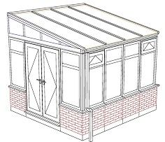 BUDGET UPVC CHEAPEST UPVC LEAN TO CONSERVATORY ONL
