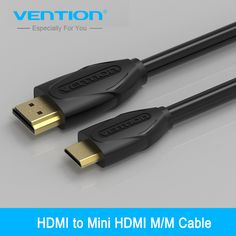 Vention Mini HDMI to HDMI Cable  HDMI 1.4V 1080P 1m 1.5m 2m 3m High Gold Plated Mini HDMI  Cable for Tablet Camcorder MP4 DVD #Affiliate