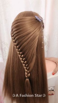 10 Amazing Braid Hairstyles - Hairstyle For 2019 Braid Hairstyles - Are you looking for Braids for your hair? Congratulations, you will get it today. This article will show you 10 stylish braids hair ideas Box Braids Hairstyles, Cute Hairstyles, Wedding Hairstyles, Brunette Hairstyles, Hairstyle Ideas, Black Hairstyle, Updo Hairstyle, Office Hairstyles, Anime Hairstyles
