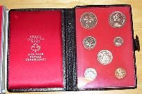 1971 CANADA DOUBLE DOLLAR SET SEVEN COIN ROYAL CANADIAN MINT PROOF SET