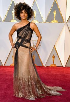 Watch Halle Berry Strip Off Her Oscars Gown and Go Skinny-Dipping   InStyle.com