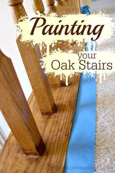 This is an incredible makeover of a staircase including a tutorial on how to paint the staircase.