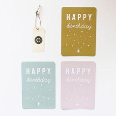 "Carte postale ""HAPPY"" / cinqmai"