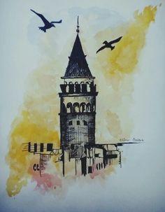 Galata kulesi.