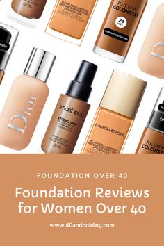 Makeup Foundation Reviews for Women over 40! We test foundations on mature skin and report the results for you! New foundation review every month. Don't find the foundation you're looking for? Put in a request and we'll test it and review it! Sign up for our Newsletter to be notified as soon as new reviews are posted! #makeupfoundation #foundation #foundationtips #foundationmakeup #foundationdupes #foundationfullcoverage #makeup #makeupreview #over50 #over40 #40andholdinglife #beautyblog Airbrush Foundation, Matte Foundation, Makeup Foundation, Best Makeup Brands, Makeup Over 40, Beauty Giveaway, Best Self Tanner, Everyday Makeup, Cool Things To Make