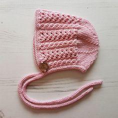 Baby Girl Bonnet, Knitted Bonnet, Hand Knitted, Hand Knit Baby Hat, Baby Shower Gift, Baby Gift, Kids Hat, Pretty Bonnet, Newborn Photo Prop by RowRowandKades on Etsy https://www.etsy.com/listing/520323238/baby-girl-bonnet-knitted-bonnet-hand