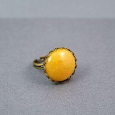 Yellow Jasper Adjustable Ring