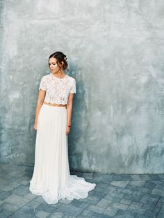 wedding dress inspiration, two piece wedding dress, beautiful wedding dress, romantic bride, wedding photographer