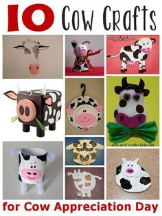10 cow crafts for cow appreciation day