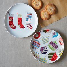 Patchwork Christmas Plates