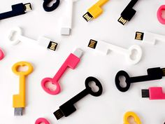 Clé USB Key Everyone already knows flash drives are the key to balancing many jobs, so why not make it literal?  Available at supermarkethq.com, $50.Office Accessories - Cute Office Supplies | Everywhere - DailyCandy