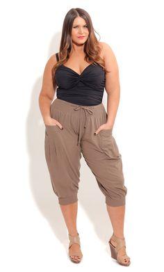 City Chic - KNITTED BEACH SHORTS - Women's Plus Size Fashion ...