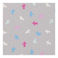 Hamish Scottie Dog Cushion Cover Tweed Emebellished Square 45x45 cm 100% Cotton