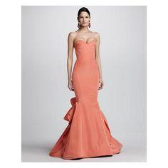 $6,490.00  Women's Strapless Ruffle-Back Fishtail Gown - Oscar de la Renta