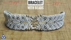 How to Macrame Bracelet With Beads Tutorial - SIMPLE Macrame Pattern