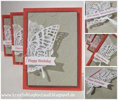 .    Kreativ Blog by Claudi: halbe Schmetterlinge