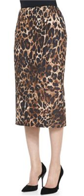 Lafayette 148 New York - Priscilla Leopard-Print Skirt: An animal print pencil skirt is truly a classic, so we encourage investing in this high quality one that you'll be able to reach for time and again.