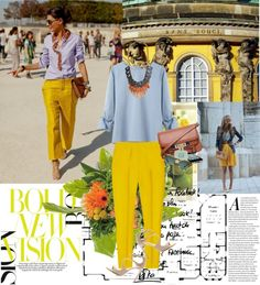 yellow street style#Repin By:Pinterest++ for iPad#
