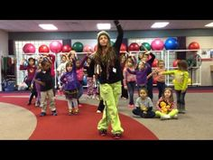 Randi and her Afterschool kids dance to their new routine. The singing was completely spontaneous. Gross Motor Activities, Toddler Learning Activities, Physical Activities, Yoga For Kids, Exercise For Kids, Zumba Songs, Zumba Kids, Family Fitness, Kids Fitness